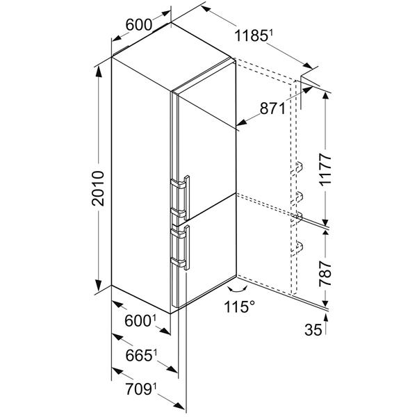 LIEBHERR CNef 4815 Отдельностоящий холодильник нержавеющая сталь - купить по низкой цене на интернет аукционе Least.sale